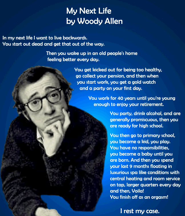 Woody Allen's Next Life - Laugh of the Day - Marlo Thomas