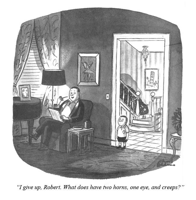 Funny CHARLES ADDAMS Cartoon