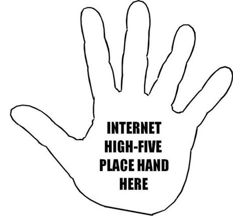 Oh yeah High five  